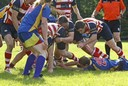 Moray forwards drive over to win ball