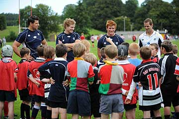 SCOTTISH STARS VISIT TRAINING CAMP AT MORRISTON